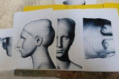 le sezioni ottenute dalla scultura digitale