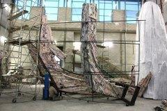 rivestimento  con multipli di carta della struttura in acciaio