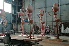 ottobre 2020 hangar Viareggio restauro sculture