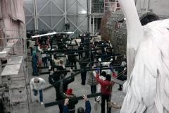 prove coreografiche all'hangar